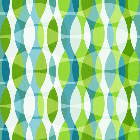 organic background: green curves seamless pattern with grunge effect Illustration