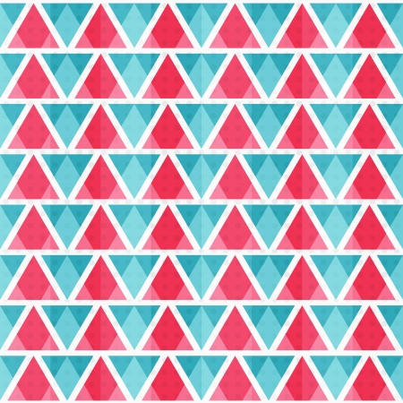 western wall: abstract bright triangles seamless pattern