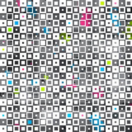 abstract color squares grunge seamless pattern Illustration