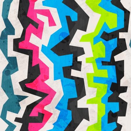 mur grunge: abstraite g�om�trique color�e grunge seamless