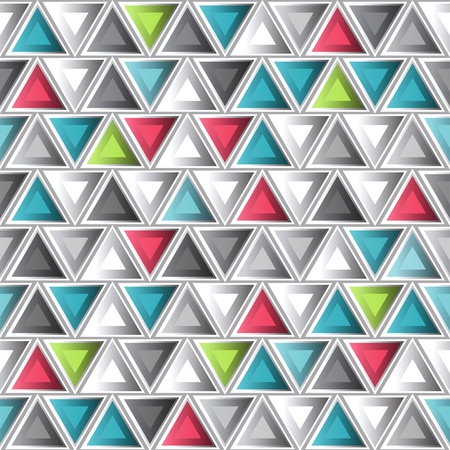 solid color: abstract colored triangle seamless pattern