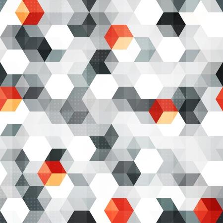 forme: Résumé cubes seamless, avec effet grunge Illustration