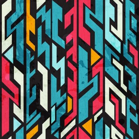 abstract graffiti naadloze patroon met grunge effect