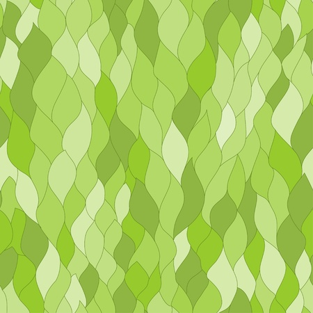 abstract green leafs seamless texture Stock Vector - 19279938