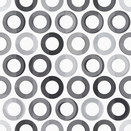 abstract monochrome circle seamless texture Stock Vector - 19280020