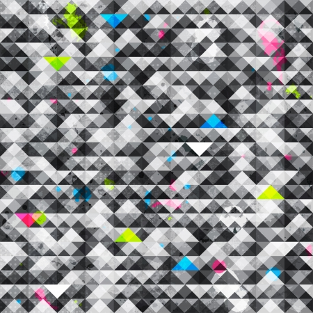 abstract triangle grunge seamless pattern Ilustracja