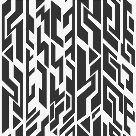 jewish houses: monochrome ancient seamless pattern Illustration
