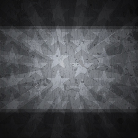 retro stars black background with grunge effect Stock Vector - 19280052