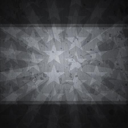 retro stars black background with grunge effect Vector