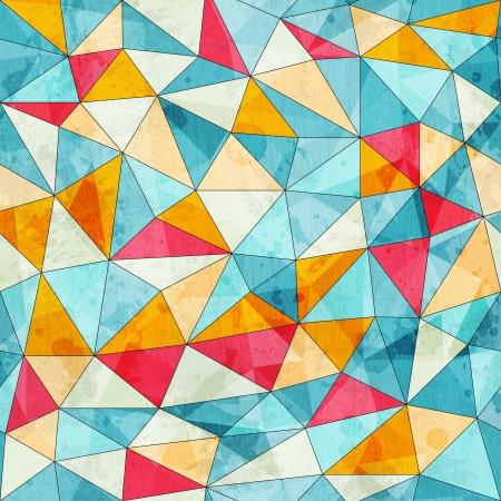 arlecchino: epoca triangoli colorati senza soluzione di modello con effetto grunge