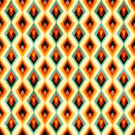 vintage diamond seamless pattern Illustration