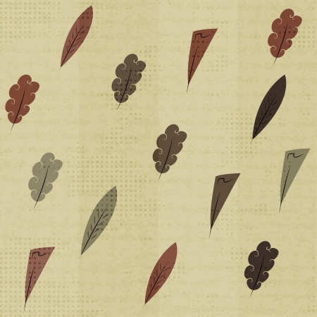 vintage feathers seamless Vector