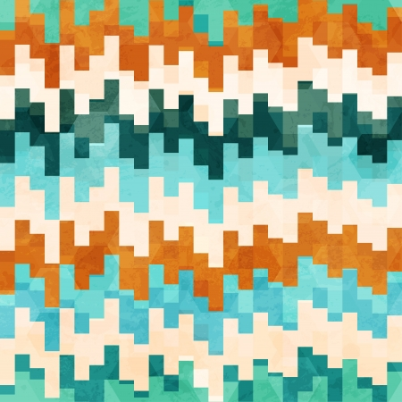 vintage pixel seamless pattern with grunge effect Stock Vector - 19280244