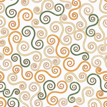 vintage swirls seamless pattern with grunge effect Vector
