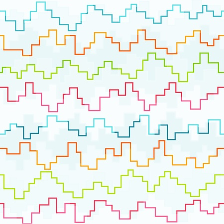 colored pixel zigzag seamless pattern Vector