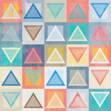 colored triangle seamless pattern with grunge effect Vector