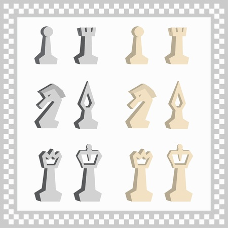 abstract chessmen Vector