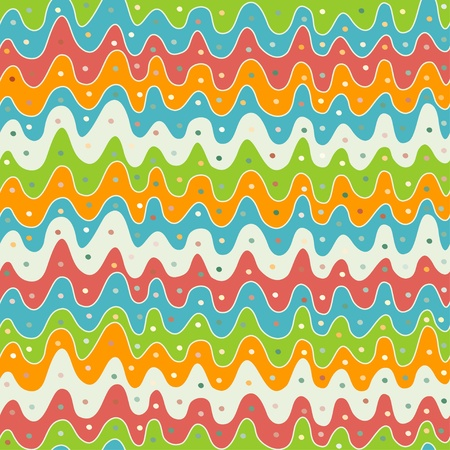 abstract colored wave seamless pattern
