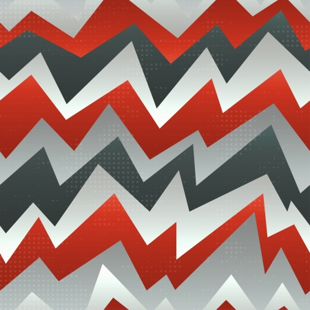 abstract red zigzag seamless pattern with grunge effect Illustration