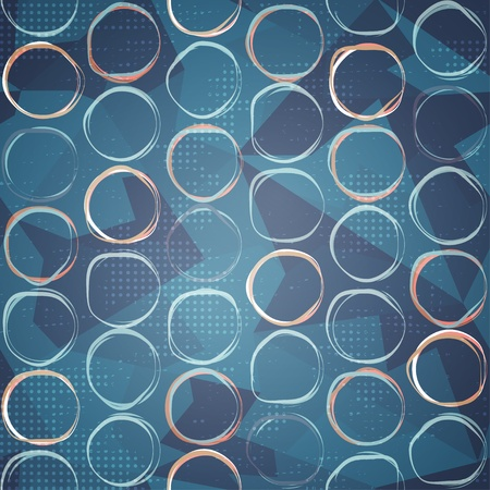 blue circle seamless pattern Stock Vector - 21504913