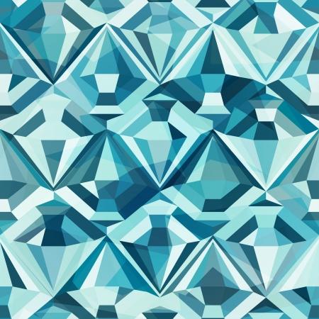 차가운 컬러 다이아몬드 원활한 패턴