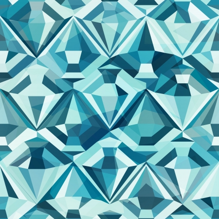 diamond stone: cold color diamond seamless pattern