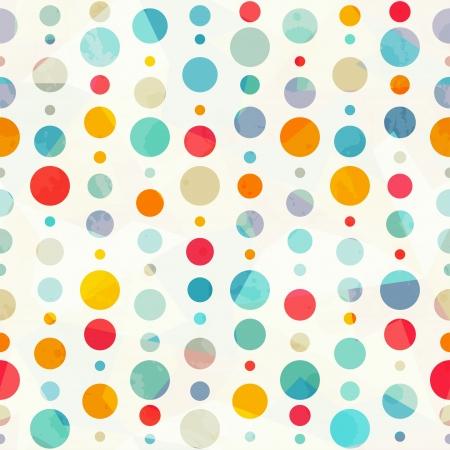 色付きの円のシームレスなパターン