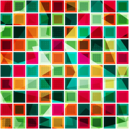 colored squares seamless pattern Stock Vector - 21504991