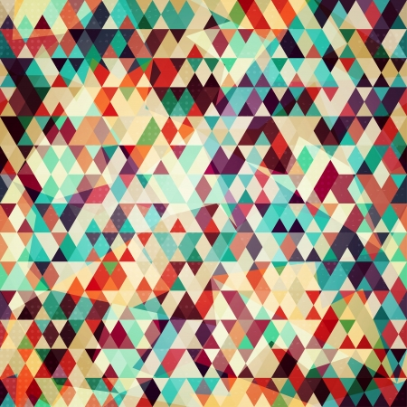 geometrical shapes: colored triangle seamless pattern