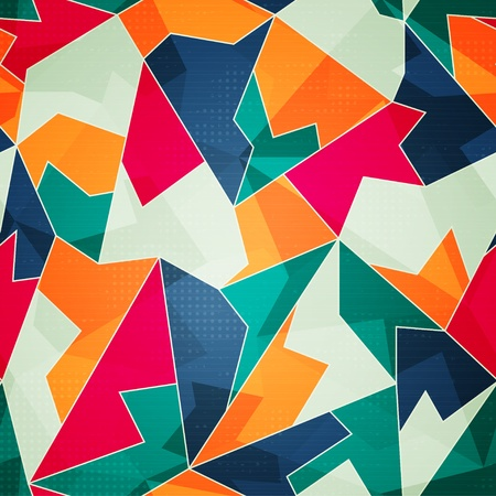 colored triangle seamless pattern Stock Vector - 21504995