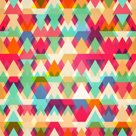style: colored triangle seamless pattern
