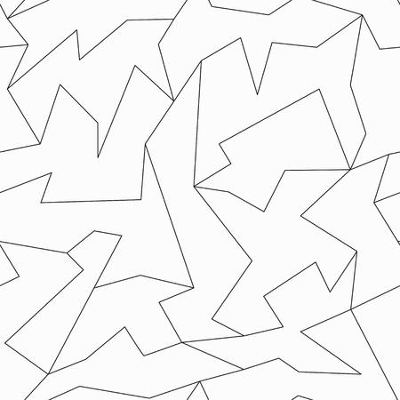 lineas rectas: contorno de patrón de mosaico sin fisuras