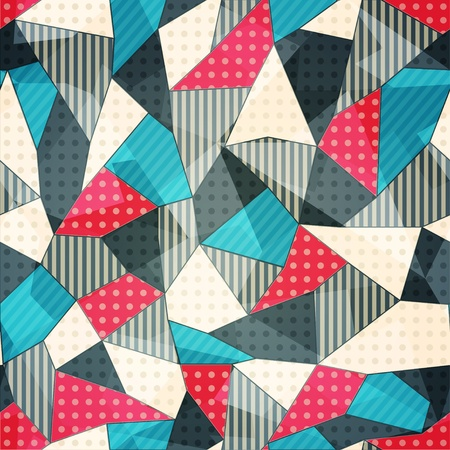 patchwork: fabric pieces seamless pattern