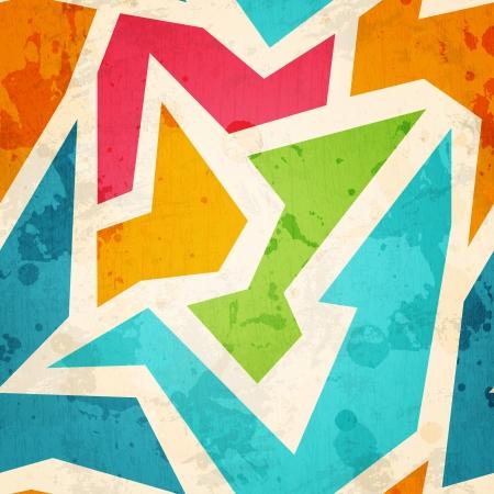 geometrische naadloze patroon met grunge effect Vector Illustratie