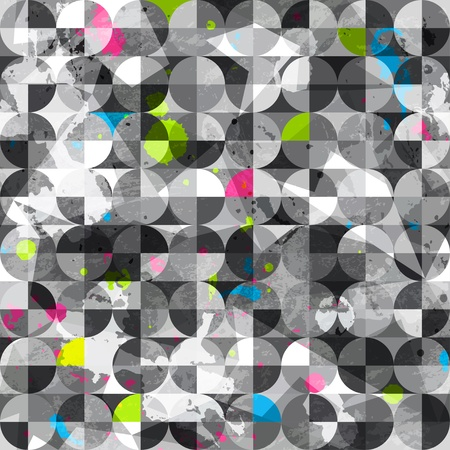 graffiti brown: grunge circles seamless pattern Illustration