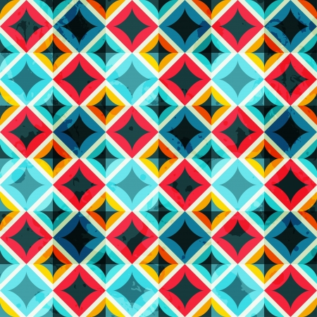 グランジ色モザイク シームレスなパターン  イラスト・ベクター素材