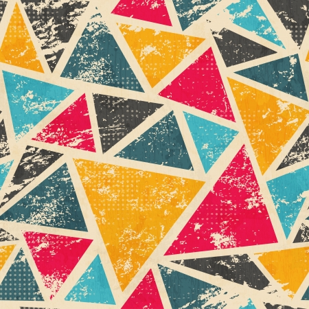grunge colored triangle seamless pattern Imagens - 21505087