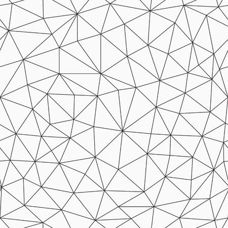 白黒輪郭の三角形のシームレスなパターン  イラスト・ベクター素材