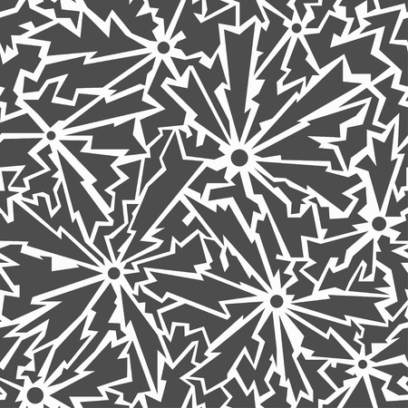 monochrome cracks seamless pattern Vector