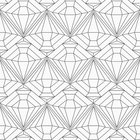 monochrome diamond seamless pattern Stock Vector - 21505113