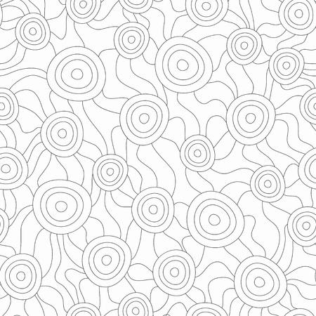 monochrome fungus seamless pattern Stock Vector - 21487673