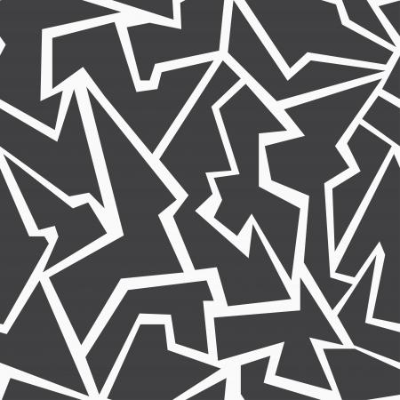白黒モザイクのシームレスなパターン  イラスト・ベクター素材