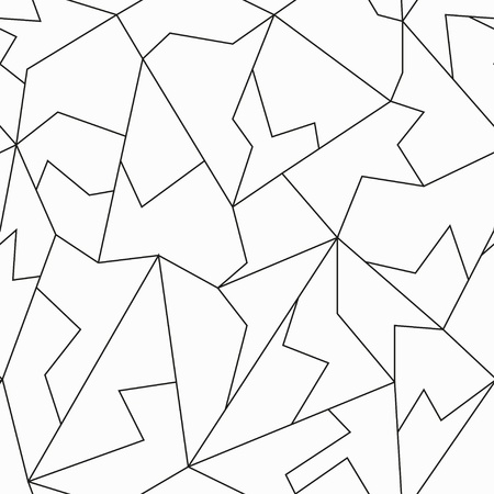 monochrome mosaic seamless pattern Illustration