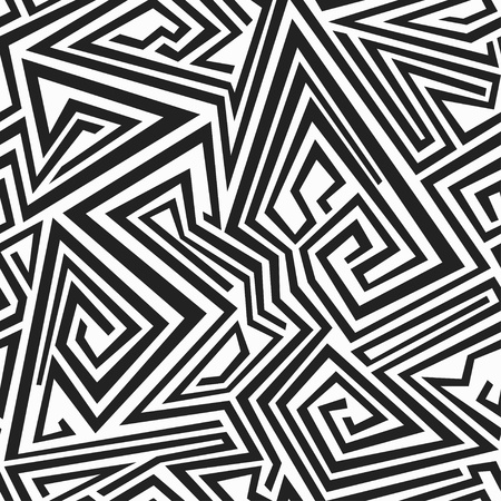 monochrome spiral lines seamless pattern Stock Vector - 21505112