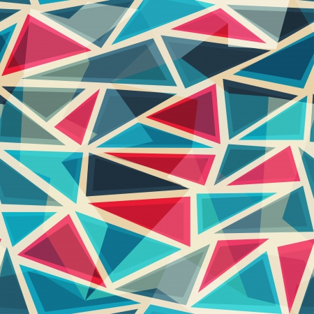 モザイク モダンな三角形のシームレスなパターン