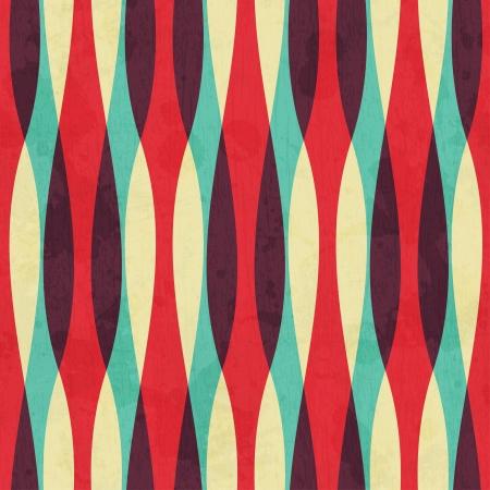 グランジ効果とレトロな曲線のシームレスなパターン