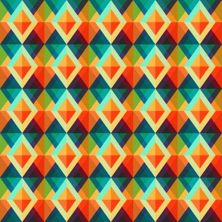 green carpet: retro rhombus seamless pattern