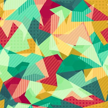 retro mosaic seamless pattern Stock Vector - 21505163