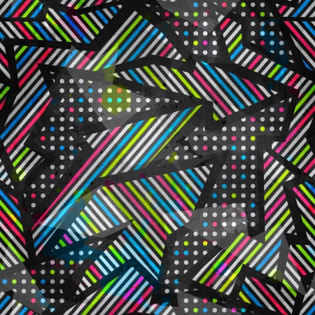 parallelepiped: spectrum color seamless pattern with grunge effect