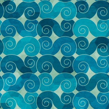 Onde spirale senza soluzione di modello con effetto grunge Archivio Fotografico - 21505170